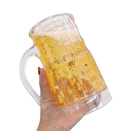 amazon com xytmy freezable plastic beer freezer mug 2 wall