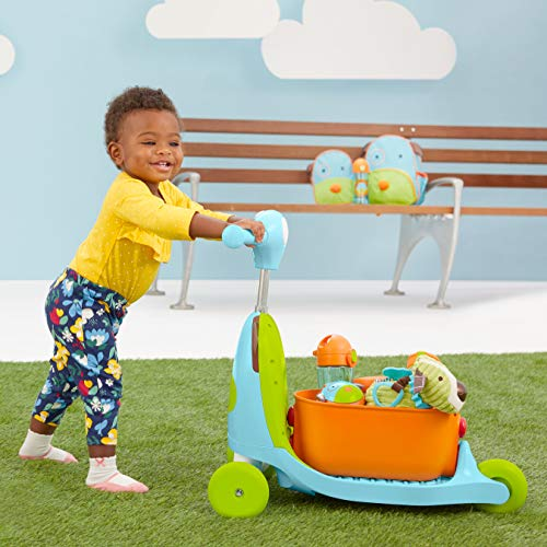 51wt8cpVquL - Skip Hop Kids 3-in-1 Baby Activity Walker & Ride On Scooter Wagon Toy, Dog