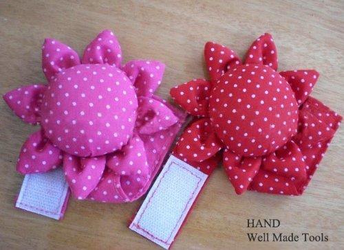1 Puntaspilli da polso, morbido e leggero, colore Rosa HAND