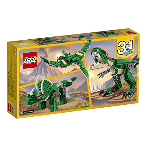 51wt8xO5joL - LEGO Creator Mighty Dinosaurs 31058 Build It Yourself Dinosaur Set, Create a Pterodactyl, Triceratops and T Rex Toy  (174 Pieces)