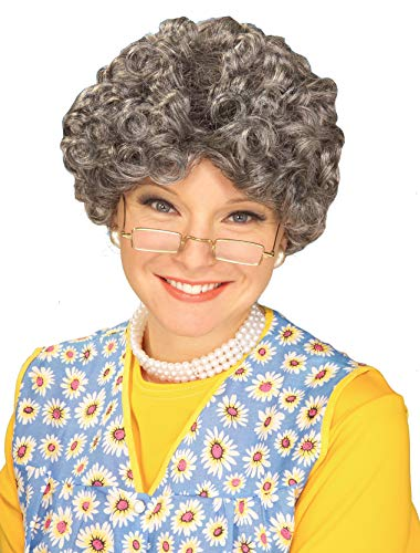 Party Hair Gray Adult Yo Mamma Old Lady Costume Wig Madea Granny (The Days And Nights Of Sophia Petrillo)