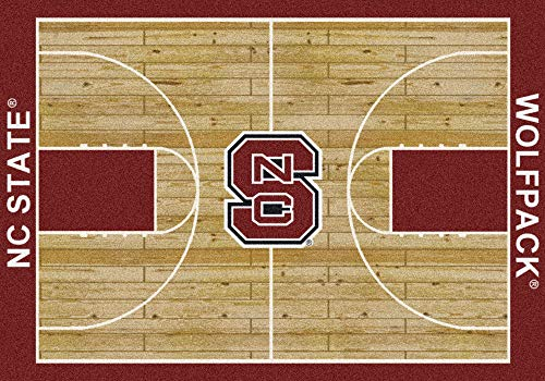 "Milliken Rugs North Carolina State Wolfpack NCAA Area Rug - Home Court (5'4"" x 7'8"") ()"