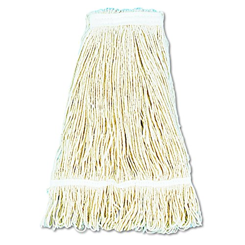 ro Loop Web/Tailband Wet Mop Head, Cotton, 24oz, White (Pack of 12) (24 Ounce Cotton Web)