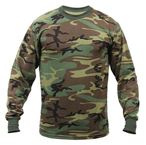 Rothco Long Sleeve T-Shirt/Woodland Camo - 3X-Large