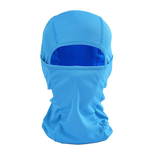 - Glumes Face Mask Windproof Sun Dust Protection| Solid Color Design|Durable Face Mask|Bandana Face Shield|Motorcycle Fishing Hunting Cycling (Blue)