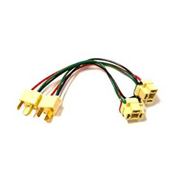 51wt9lnoM%2BL._SY355_ amazon com 9003 h4 male and female wire harness automotive male to female wiring harness at gsmx.co