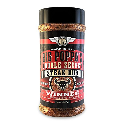 Big Poppa's Double Secret Steak Rub 14oz.