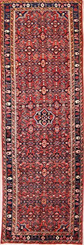 Rug Source Traditional Floral Hamedan Hand Knotted Persian Rug Runner 10 Ft Long For Hallways (10' 4'' x 3' (Hamedan Persian Hand Knotted Rug)