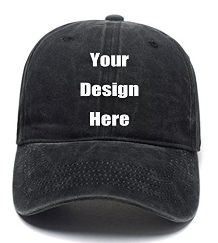 Fashion Sun Visor Hats Personalized Customized Trucker Hats Unisex Baseball Caps Summer Cowboy Hats (Black)