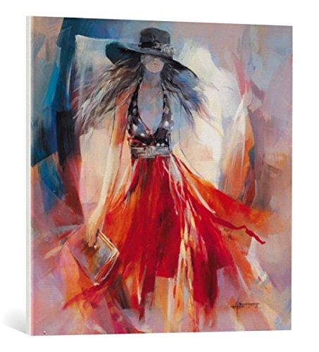 kunst für alle Canvas Print: Willem Haenraets Summerdress I Fine Art Print, Canvas on Stretcher, Ready to Hang Wall Picture, 27.6x27.6 inch / 70x70 cm (Vogue Frauen)