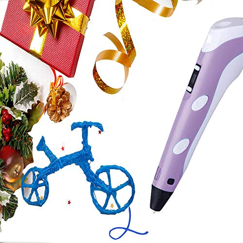 3D Pen for Kids Purple, Easter Day Gifts for Kids, 3D Printer Pen 1.75mm PLA with 512inch ABS Filament 3D Printing Drawing Pen with Low-Temperature, Non-Clogging, Creative 3D Pen for Adults
