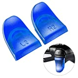 eXtremeRate 2 Pairs Blue L2 R2 Buttons Trigger Extenders for PlayStation 4 PS4 JDM-030 Controller
