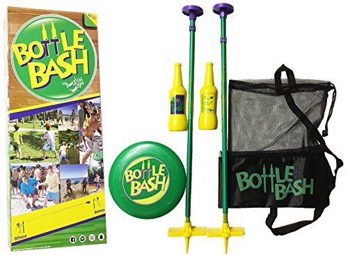 Bottle Bash Standard Game Set with Soft Surface Spike - Frisbee All Sport