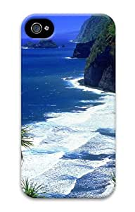 iPhone 4S Case Cover - Hawaii Beach 3D iPhone 4S and iPhone 4 PC Hard Back Case Cover