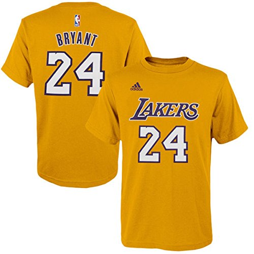Kobe Bryant Nba Player (Kobe Bryant Los Angeles Lakers #24 NBA Youth Gametime Net Player T-shirt Gold (Youth Large 14/16))