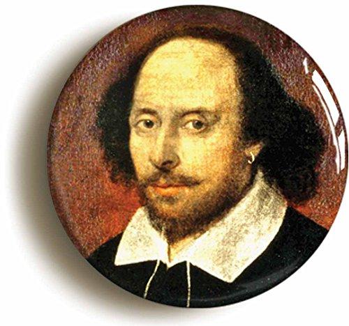 Juliet Costumes Ideas (William Shakespeare Portrait Button Pin (Size Is 1inch Diameter))