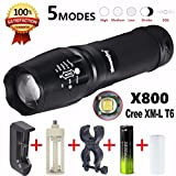 HP95® G700 LED Zoom Flashlight X800 Military Lumitact Torch + 18650 Battery Charger