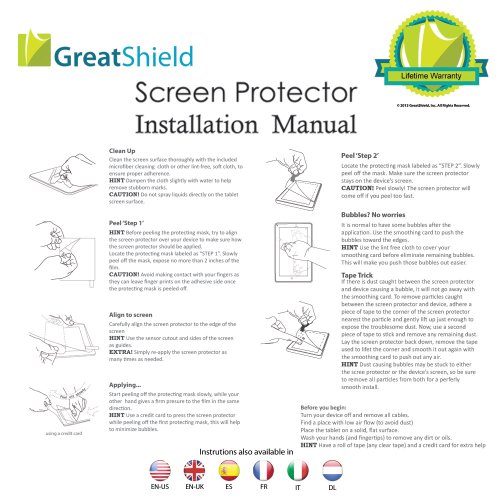HTC One M8 Screen Protector - GreatShield DUEL Mark II Anti-Glare (Matte) Screen Protector for HTC One M8 (2014 Release) (Retail Packaging) - 3 pack