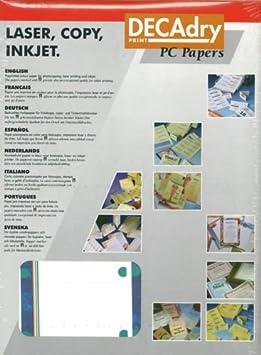 DECAdry 180 Cartes De Visite Faites Vos Propres Papier