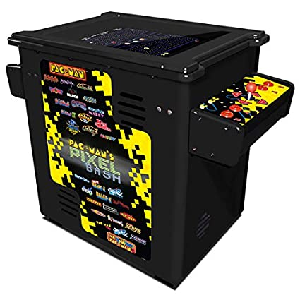 Pacman Table Game >> Amazon Com Namco Pac Man Pixel Bash Home Cocktail Table Black