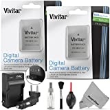 (2 Pack) EN-EL14 / EN-EL14a Battery and Charger Kit for NIKON DSLR D5300 D5200 D5100 D3300 D3200 D3100, COOLPIX P7800 P7700 P7100 P7000, Nikon DF Cameras - Includes: 2 Vivitar Ultra High Capacity Rechargeable 2300mAh Li-ion Batteries + AC/DC Vivitar Rapid Travel Charger + Cleaning Kit + MagicFiber Microfiber Lens Cleaning Cloth