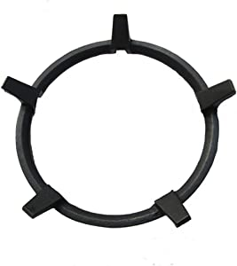 Wok Ring/Non Slip Black Cast Iron Stove Trivets for Kitchen Wok Support Ring Cooktop Range Pan Holder Stand Stove Rack Milk Pot Holder for Gas Hob - Gas Stove accessories