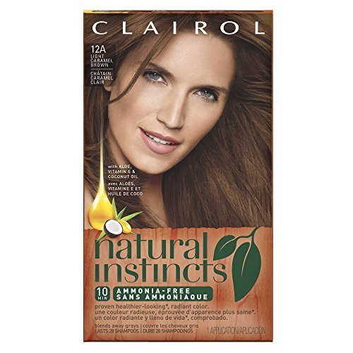 Clairol Natural Instincts Hair Color 6BZ /12A Light Caramel Brown(Pack of 3) by - Brown Roun