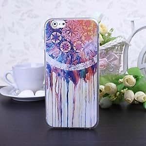 YULIN patrón nacional de flores de estilo estuche blando de TPU súper ultra para el iphone 6 más