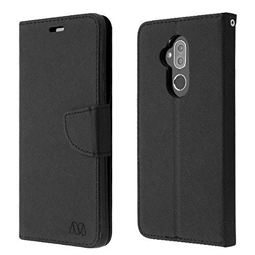 Luckiefind Case Compatible with Lg K30 / LG Phoenix 4 / LG Phoenix Plus/TracFone LG Premier Pro L413DG, Premium PU Leather Flip Wallet Credit Card Slot Cover Case