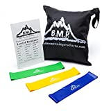 Black Mountain Resistance Loop Bands Set of Three with Starter Guide and Carrying Bag