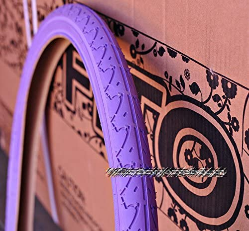 """1 Pair of Duro 26/""""x2.125/"""" All Purple Tire for Beach Cruiser Bicycle"""
