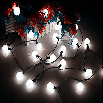 Heavy Duty G40 Globe Outdoor String Lights Cool White 17 Ft 25 Led Garden Patio Bar Wedding Party Christmas Lights Mood Lighting For Indoor Outdoor