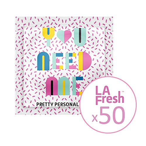 - La Fresh Travel Feminine Hygiene Wipes - Portable and Discreet - 50 Individually Sealed Packets