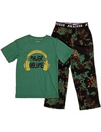 Boys 2-Piece Major Volume T-Shirt & Camo Pants Sleepwear Pajama Set
