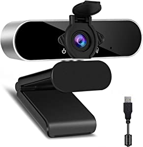 Full HD 1080p Webcam, Webcam with Microphone Streaming Computer Web Cam for Pc Laptop Desktop Rotation Computer Camera Highly Compatible