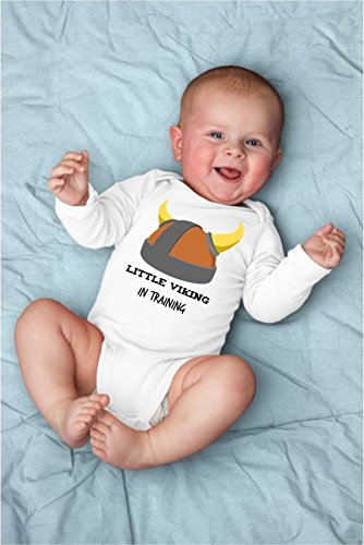 Little Viking In Training Baby Bodysuit For Sassy, Sarcastic Punny Medieval Times (Bodysuit Sassy)