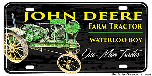 John Deere License Plate Frames - Brotherhood John Deere Waterloo Boy Farm Tractor Aluminum License plate