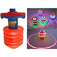 Smart Picks Battery Operated Laser Spinning Top with LED Light and Music (Colour May Vary)