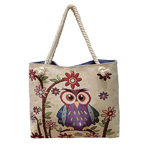 Bookbag Canvas Crossbody Messenger Shouder Handbag Tote Fashion Bag (style5)