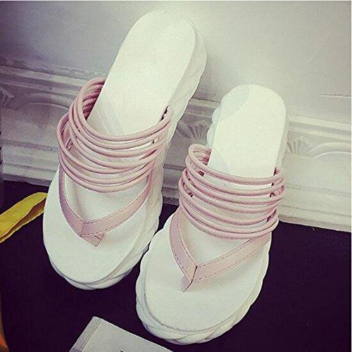 EU Sandales Mesdames Size love Color Wedge 2 Méthodes Tongs Deux beauty Black 3 Pink Pantoufles Angel d'usure 36 g8awq1g