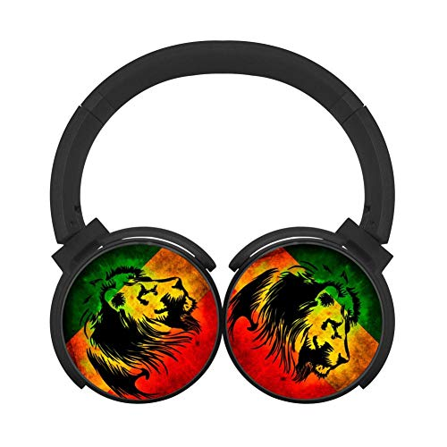 Gaming Headphones Jamaica Flag Bluetooth Headset Unisex Over-Head Noise Cancelling Wireless Headset Built-in Mic Reduce Noise