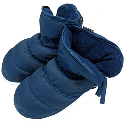 Women's Men's Quilted Down Slippers Socks Waterproof Non-slip Outdoor Indoor Snow Ankle Boots Winter Thick Warm Plush Lining Bootie Shoes Lightweight Cozy Thermal House Home Footwear Mules Clog