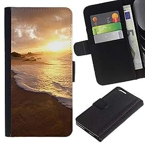 Ihec-Tech / Flip PU Cuero Cover Case para Apple Iphone 6 PLUS 5.5 - Nature Water Sunset