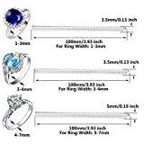 Ring Size Adjuster Set of 12 with Jewelry Polishing Cloth, 3 Sizes for Any Rings, Perfect for Loose Rings