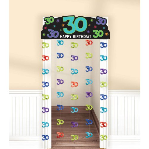 The party continuous 30th birthday party hanging doorway for 30th birthday decoration packs