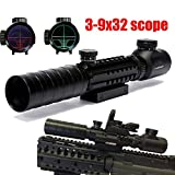RioRand 3-9x32 Eg Riflescope Red&green Illuminated Rangefinder Reticle Shotgun Air Hunting Rifle Scope