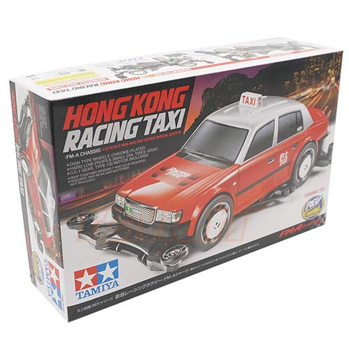 (Tamiya FM-A Chassis 1/32 Mini 4WD REV Series Special Edition Hong Kong Racing Taxi Car Kit #92402)