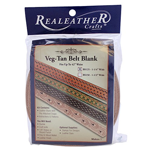Realeather Crafts Tooling Belt Blank, - Belt Leather Kits