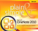 img - for Microsoft OneNote 2010 Plain & Simple book / textbook / text book