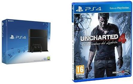 PlayStation 4 (PS4) - Consola 500GB + Uncharted 4: Amazon.es: Videojuegos